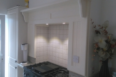 Cooker surround with lights